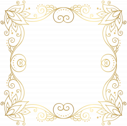 Gold Border Frame PNG Clip Art Image   Crafts   Pinterest   Art ...