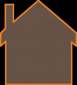 Brown House Clip Art at Clker.com - vector clip art online, royalty ...