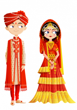 Wedding invitation Weddings in India Bride Hindu wedding Clip art ...