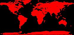 Clipart - Hearts World Map
