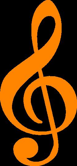 Free Stock Photo: Illustration of an orange treble clef music symbol ...