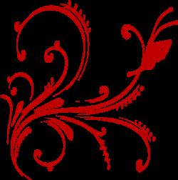 Red Floral Design Invite Clip Art at Clker.com - vector clip art ...