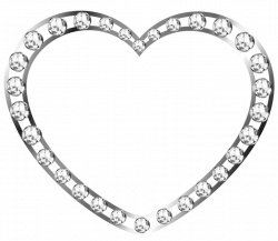 Silver Heart with Diamonds Free Clipart | Gallery Yopriceville ...