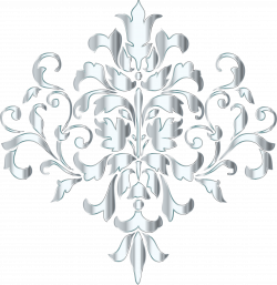 Clipart - Silver Damask Design No Background