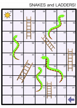 Clipart - Snakes and Ladders Board Game