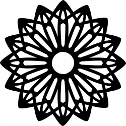 Rosette Geometric Shape Clip Art at Clker.com - vector clip art ...