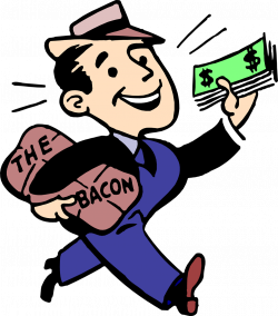 Bacon | Free Stock Photo | Illustration of a man with cash and bacon ...