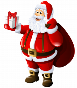 Transparent Santa Claus with Gift and Bag | santa | Pinterest ...