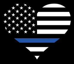 Thin Blue Line Heart Sticker | Pinterest | Symbols, Free shipping ...