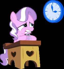608293 - artist:magerblutooth, clock, desk, diamond tiara, impatient ...