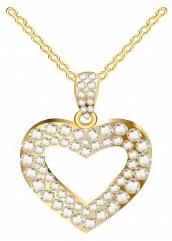 28+ Collection of Gold Heart Necklace Clipart | High quality, free ...
