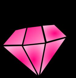 Pink Diamond Clip Art at Clker.com - vector clip art online, royalty ...
