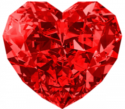 Red Diamond Heart Large PNG Picture | athina | Pinterest | Valentine ...