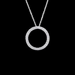 Diamond Circle Necklace - clipart