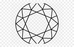 Drawn Diamonds Circle - Simple Geometric Diamond Drawing ...