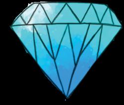 blue cute diamond art watercolor.colorsplash...