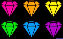 Diamond Gems Neon Clip Art - Sweet Clip Art