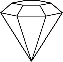 Diamond Shape, : Diamond Shape Outline Coloring Pages ...
