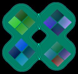 Clipart - Color diamond shape