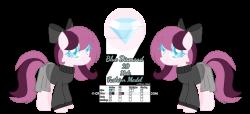 MLP/OC - Blue Diamond Ref (Updated design) by Lavender-Doodles on ...