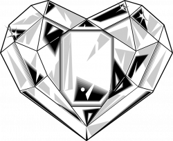 28+ Collection of Heart Diamond Drawing   High quality, free ...