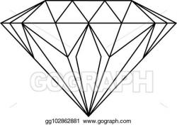 Vector Art - Diamond drawing. Clipart Drawing gg102862881 ...