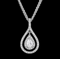 Beautiful pear cut diamond necklace