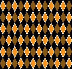 Clipart - Brown & Orange Retro Diamond Pattern 1