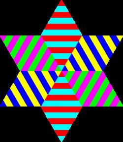 Hexagram Triangle Rainbow Clip Art at Clker.com - vector clip art ...