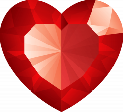 Diamond Heart Png Transparent Red