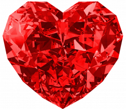 Red Diamond Heart Large PNG Picture | Gallery Yopriceville - High ...