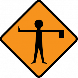File:Diamond road sign flagman ahead.svg - Wikimedia Commons
