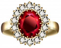 Transparent Diamond and Ruby Ring PNG Clipart   Gallery ...
