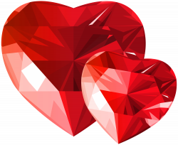 Diamond Hearts Red Transparent PNG Clip Art | Gallery Yopriceville ...