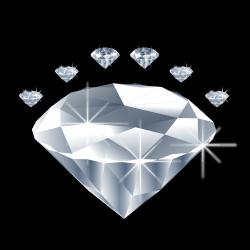 Clipart - diamond deimantas