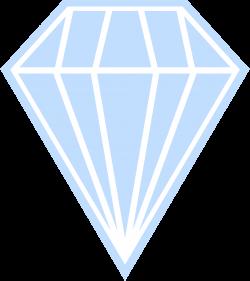 Clipart - Single Blue Diamond