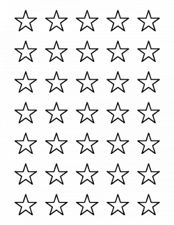 1 inch star pattern. Use the printable outline for crafts, creating ...