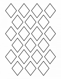 2 inch diamond pattern. Use the printable outline for crafts ...