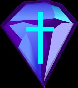 Blue Purple Diamond With Cross Clip Art at Clker.com - vector clip ...
