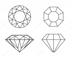 Diamond Drawing Images at PaintingValley.com   Explore ...