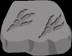 Clipart - Fossil dinosaur footprint