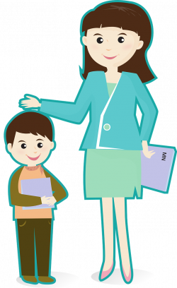28+ Collection of A Teacher And A Student Clipart | High quality ...
