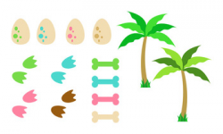 Cute Dinosaur Clipart, T-Rex Clipart, Triceratops Clipart, Dino Party