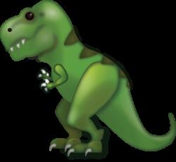 Download Tyrannosaurus Rex Iphone Emoji Icon in JPG and AI | Emoji ...