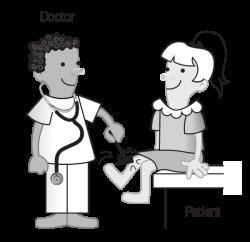 Doctor With Patient Clip Art at Clker.com - vector clip art online ...