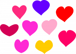 Hearts | Free Stock Photo | Illustration of colorful hearts | # 12898