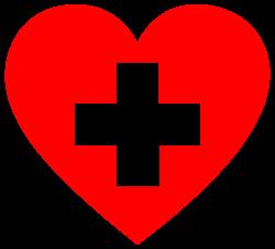 OnlineLabels Clip Art - First Aid Heart