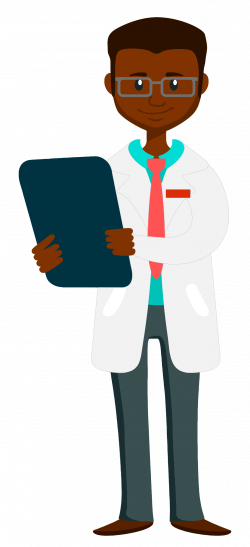 Clipart - Doctor holding clipboard