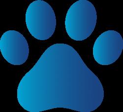 Blue Dog Paw Print - Free Clip Art