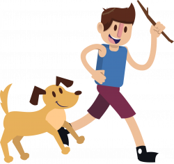 Puppy Dog Boy Pet Clip art - Play with your dog 1407*1329 transprent ...